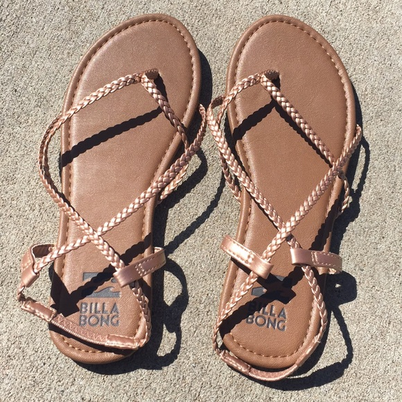 51a6233a7 Billabong Shoes - Billabong Rose gold Crossing Over Braided Sandal